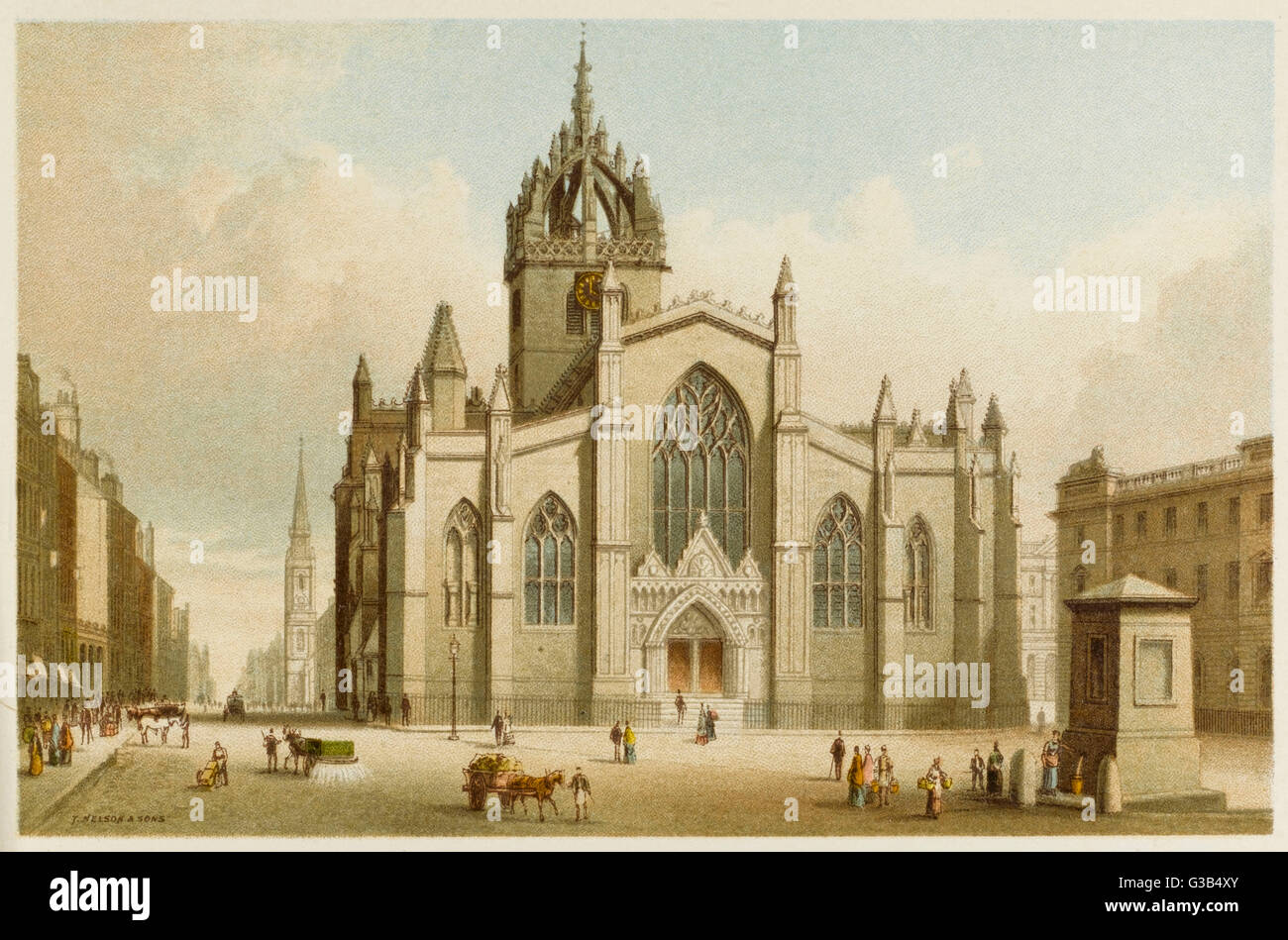 Edinburgh:  St Giles' Cathedral        Date: 1880s - Stock Image