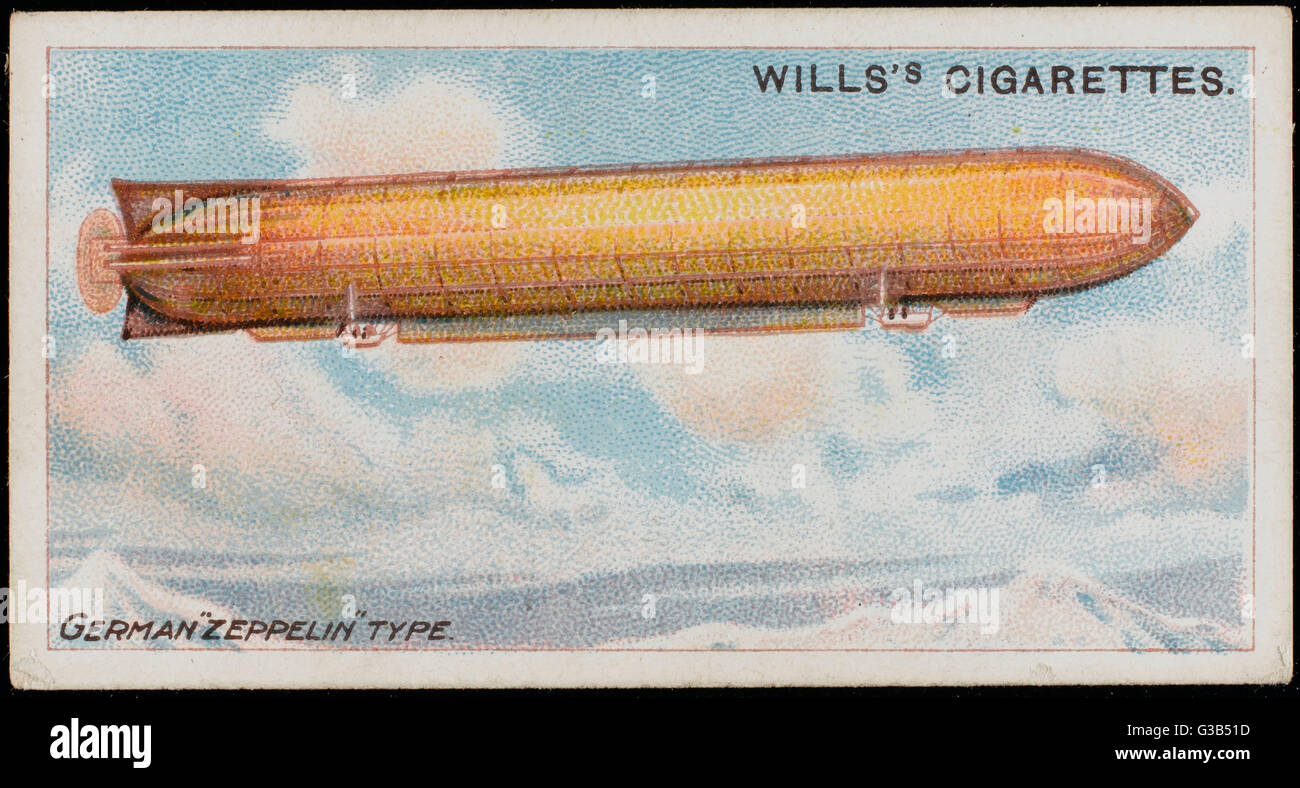 ZEPPELIN LZ-2 A modified version of  the original LZ-1        Date: circa 1904 Stock Photo