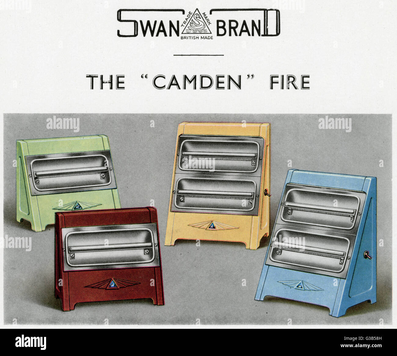 A choice of 'Camden' electric  fire with one or two bars :  the second bar can be switched  separately. - Stock Image