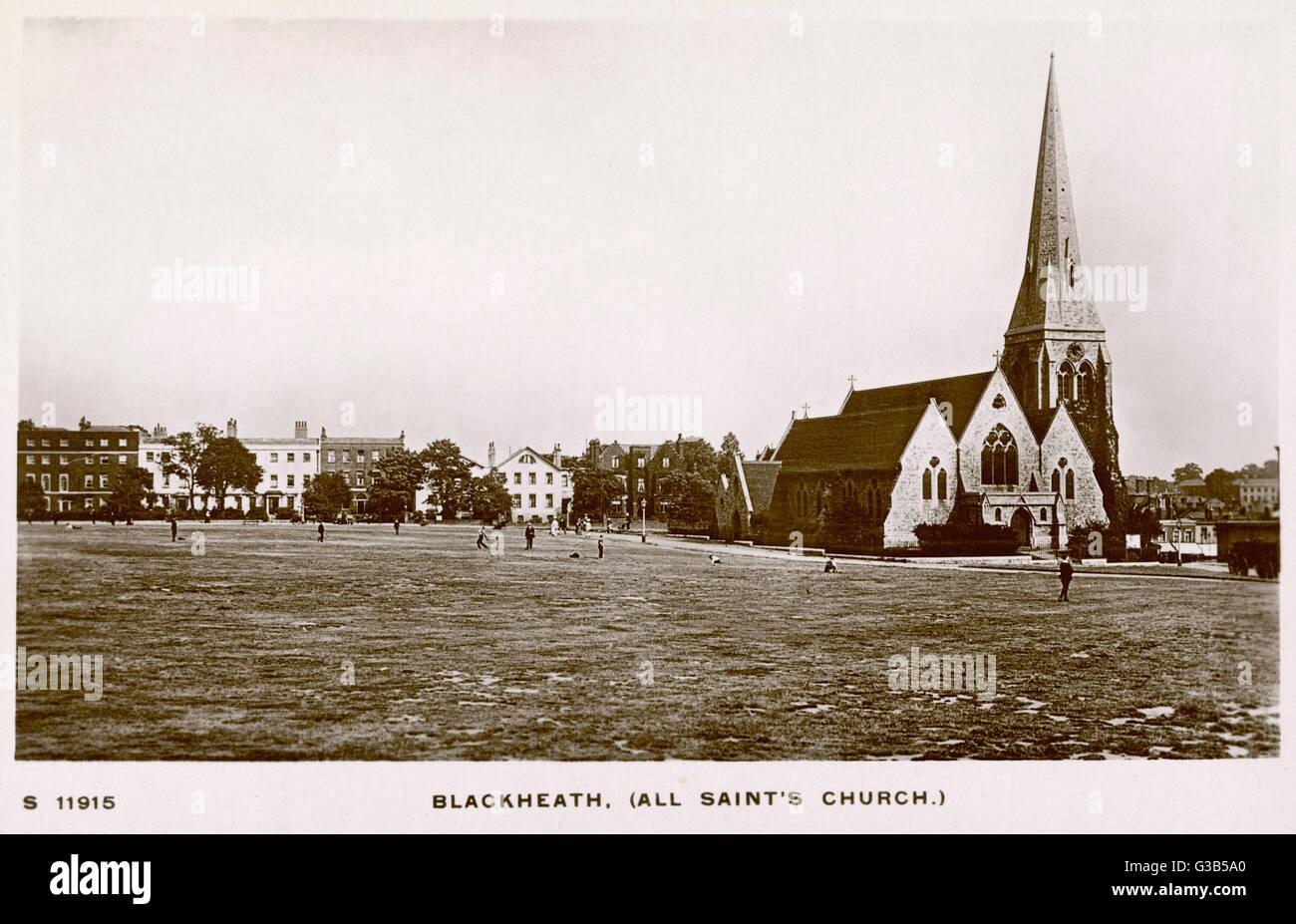 All Saints' Church, Blackheath        Date: early 20th century - Stock Image