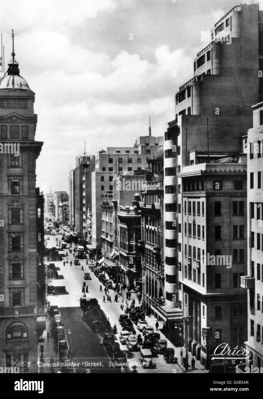 Looking down onto Commissioner  Street        Date: 1930s - Stock Image