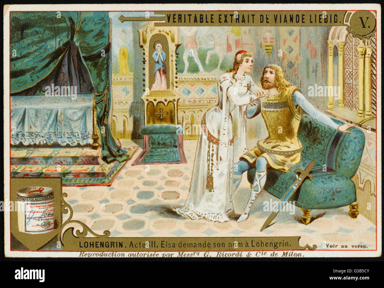 Elsa can't resist asking  Lohengrin what his name is,  with catastrophic consequences  for both of them     - Stock Image