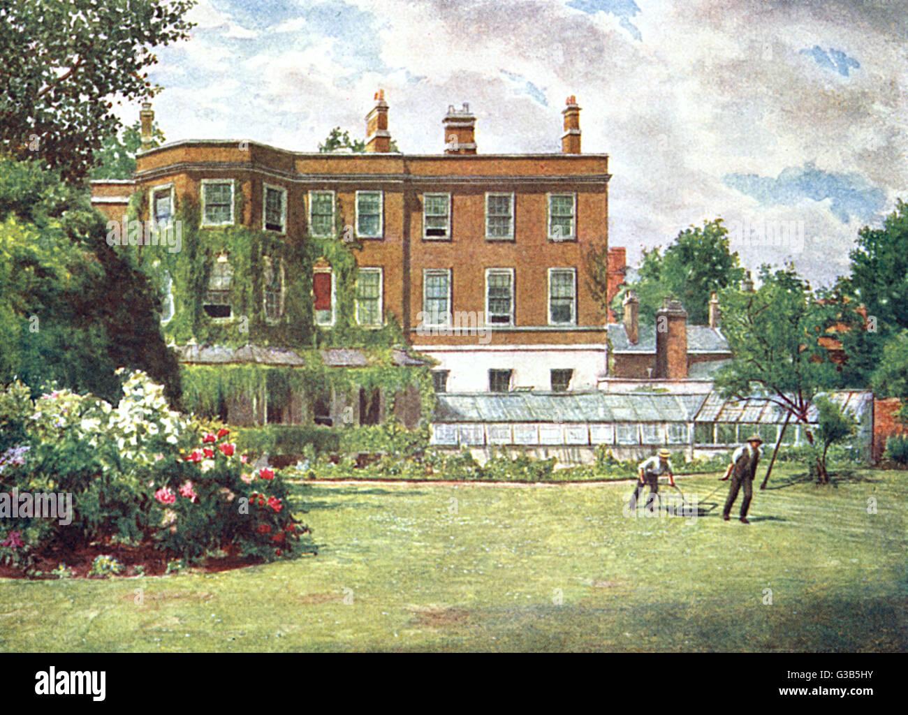 York House, Church Street,  Kensington, demolished in 1904        Date: 1899 - Stock Image