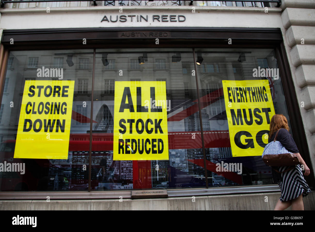 Austin Reed on Regents Street Stock Photo