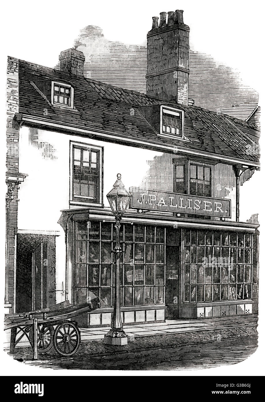 SIR JOHN FRANKLIN  His birthplace at Spilsby,  Lincolnshire.       Date: 1786 - 1847 - Stock Image