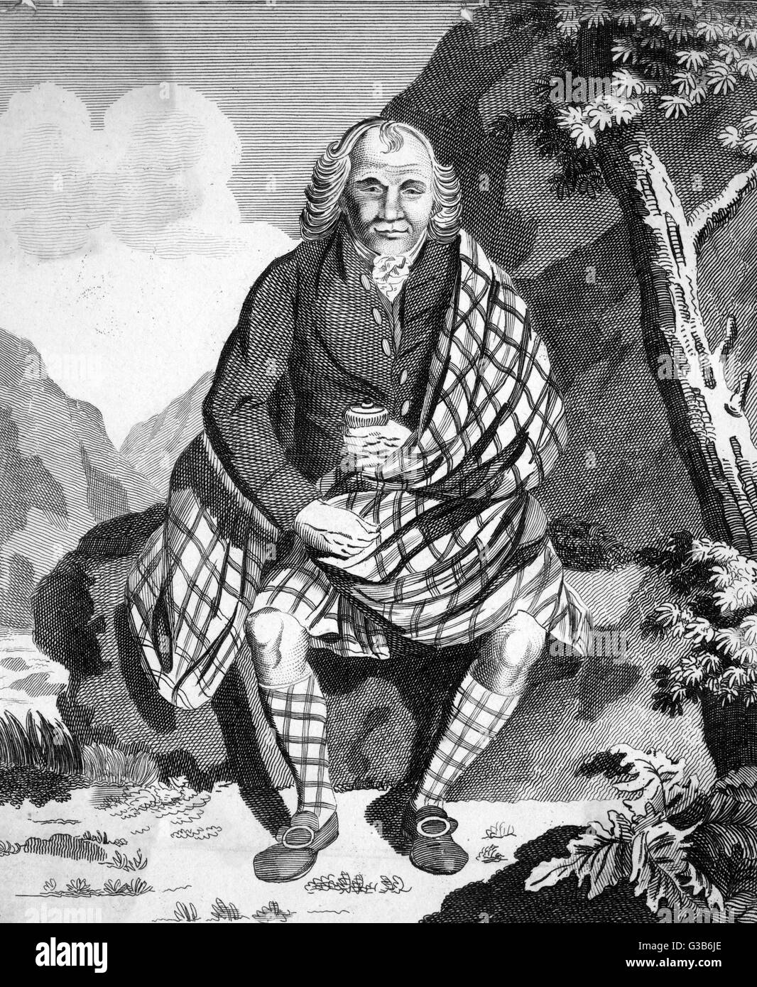 PETER GARDEN Scotsman from Aberdeenshire,  famous for his uninterrupted  health, gigantic stature and  longevity, Stock Photo
