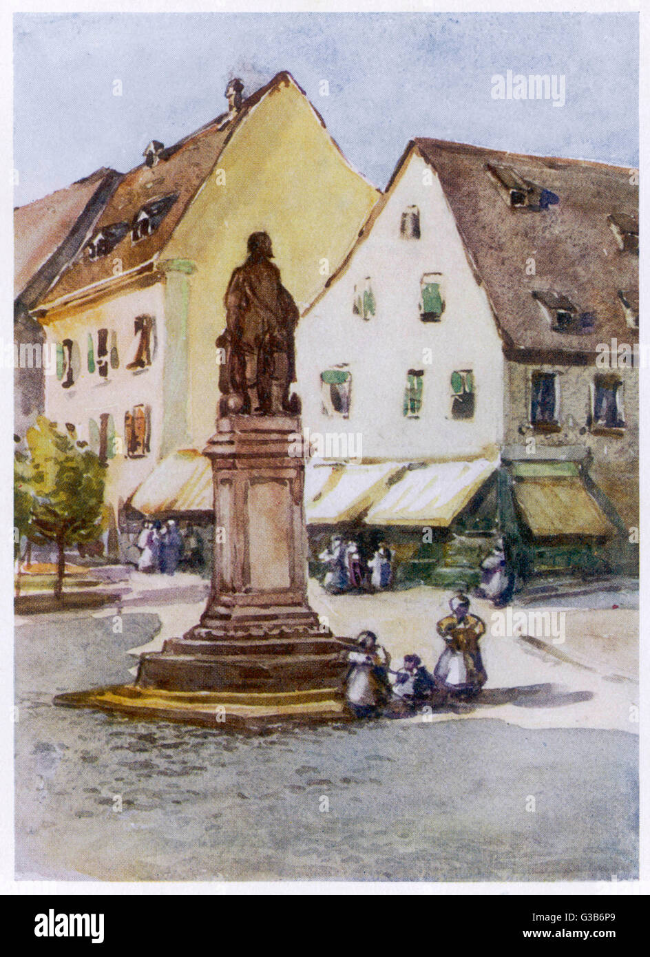 Offenburg:  statue of Sir Francis Drake        Date: 1908 - Stock Image