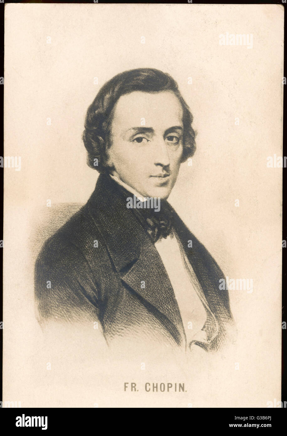 FREDERIC CHOPIN  Polish composer        Date: 19th century - Stock Image
