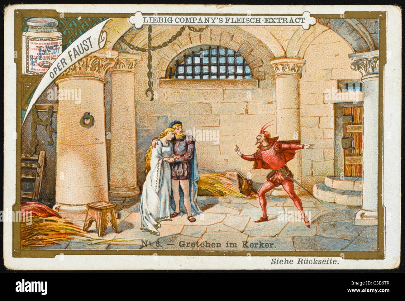 'FAUST' Faust finds Marguerite, now  mad, in prison for the murder  of their child : angels take  her to - Stock Image
