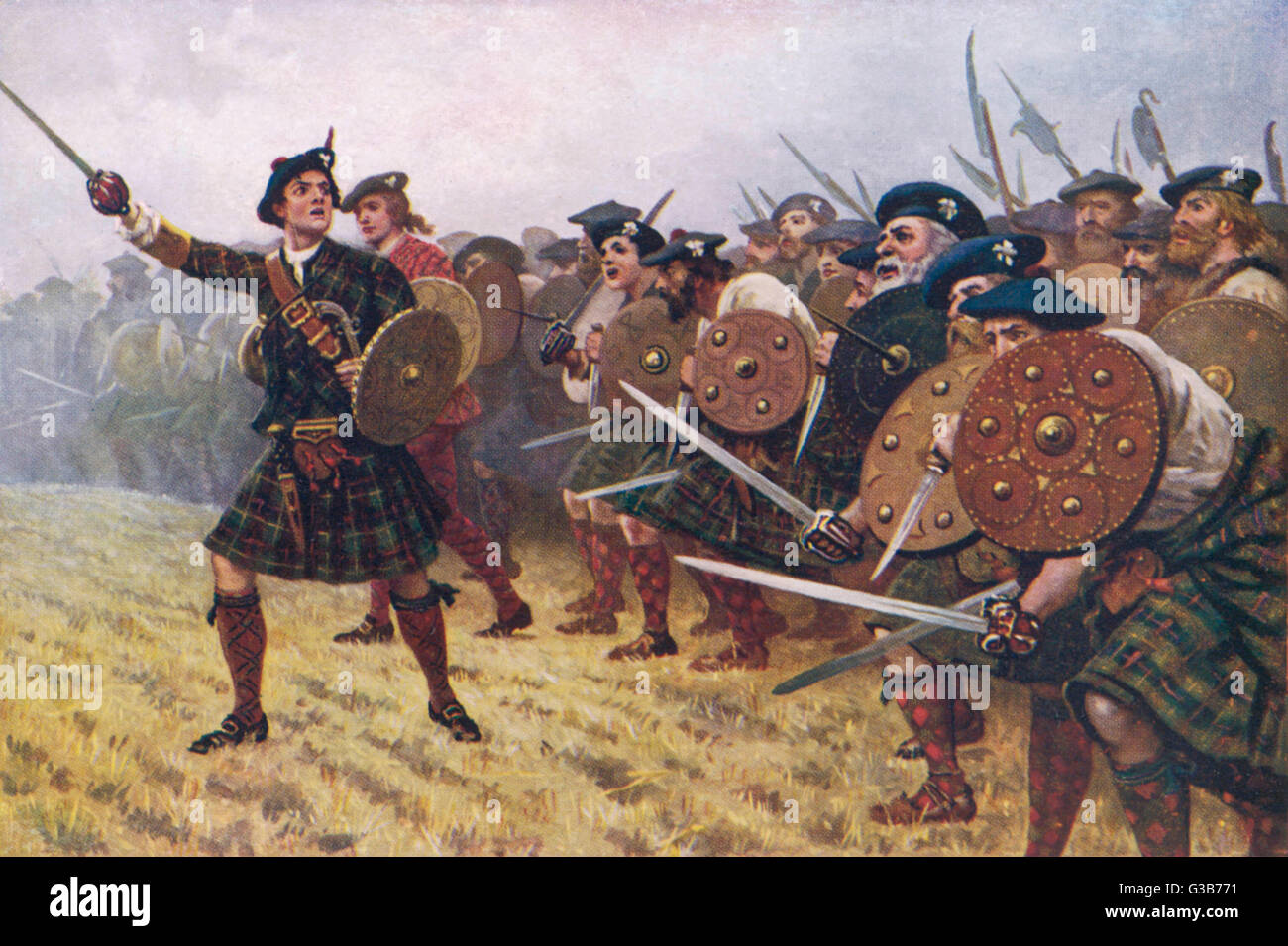 A Jacobite victory at the  Battle of Prestonpans        Date: 21 September 1745 Stock Photo