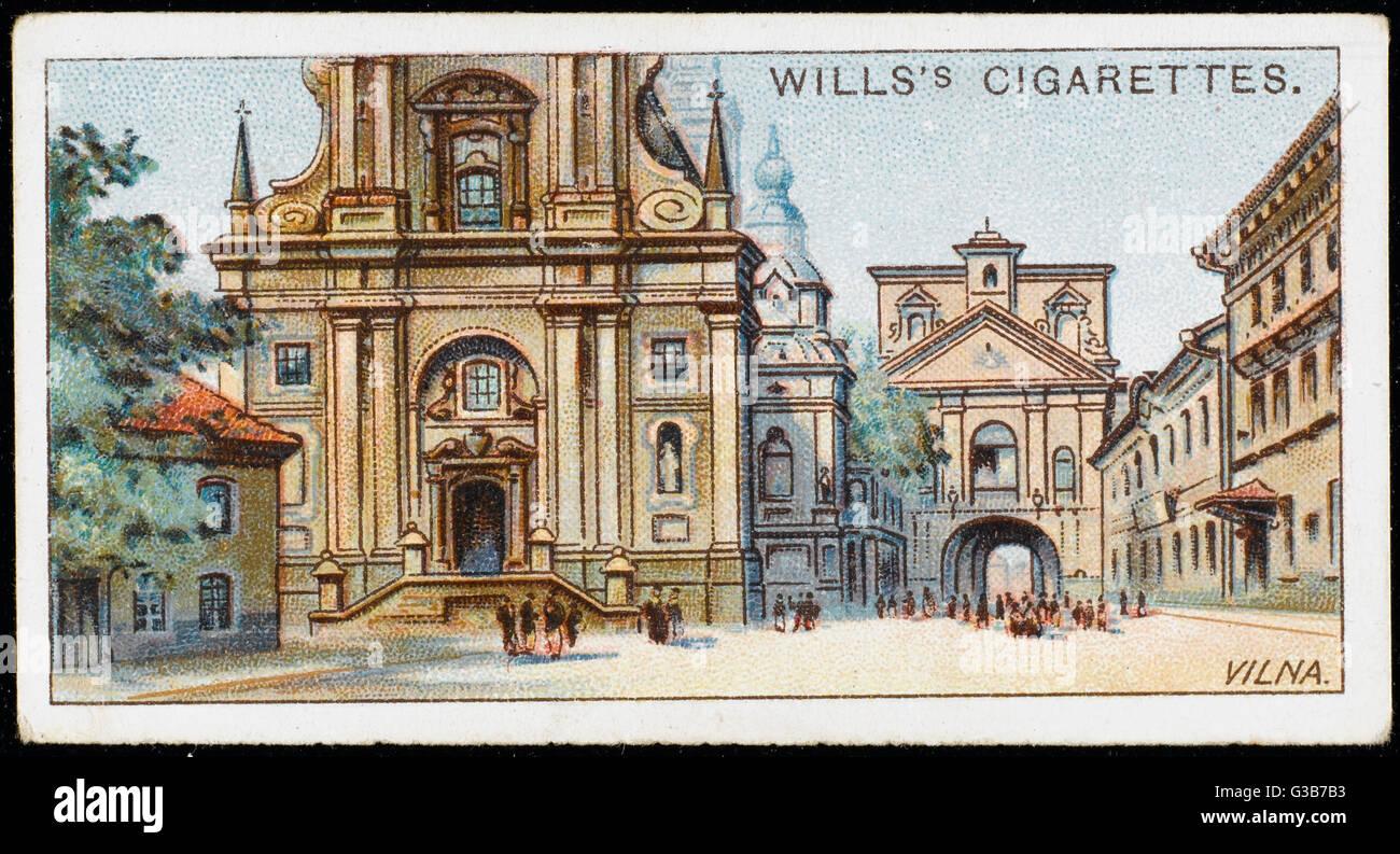 """Vilnius (Polish """"Wilno"""",  Russian """"Vilna"""" or """"Vilno"""",  German - Stock Image"""