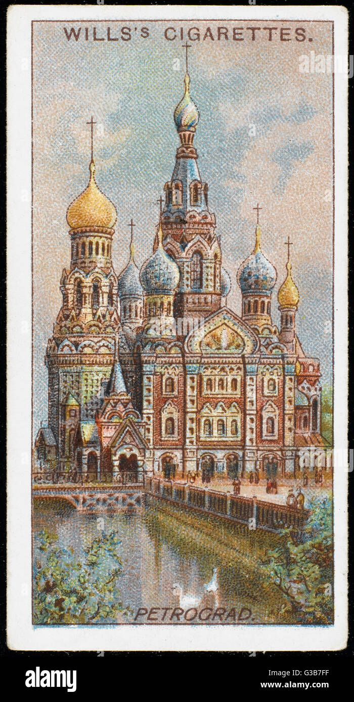St Petersburg:  Church of the Resurrection        Date: early 20th century - Stock Image