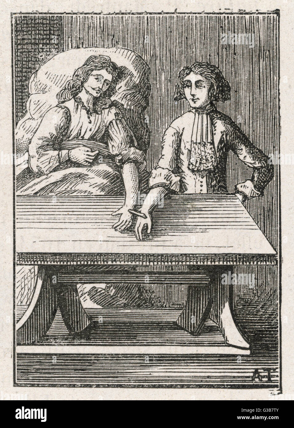 Direct transfusion: wrist to  wrist         Date: 1679 - Stock Image