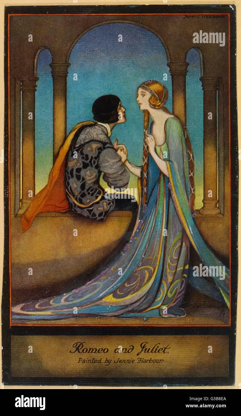 'Romeo & Juliet'         Date: Nineteenth century - Stock Image