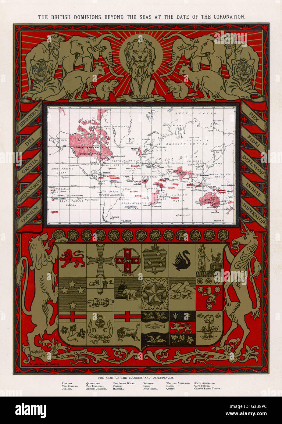Map of the british empire stock photos map of the british empire world map showing the british empire date 1902 stock image gumiabroncs Choice Image