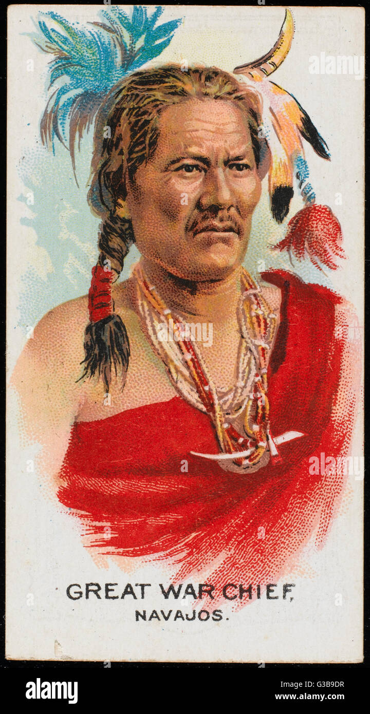 Great War Chief:  Chief of the Navajo tribe        Date: early 20th century - Stock Image