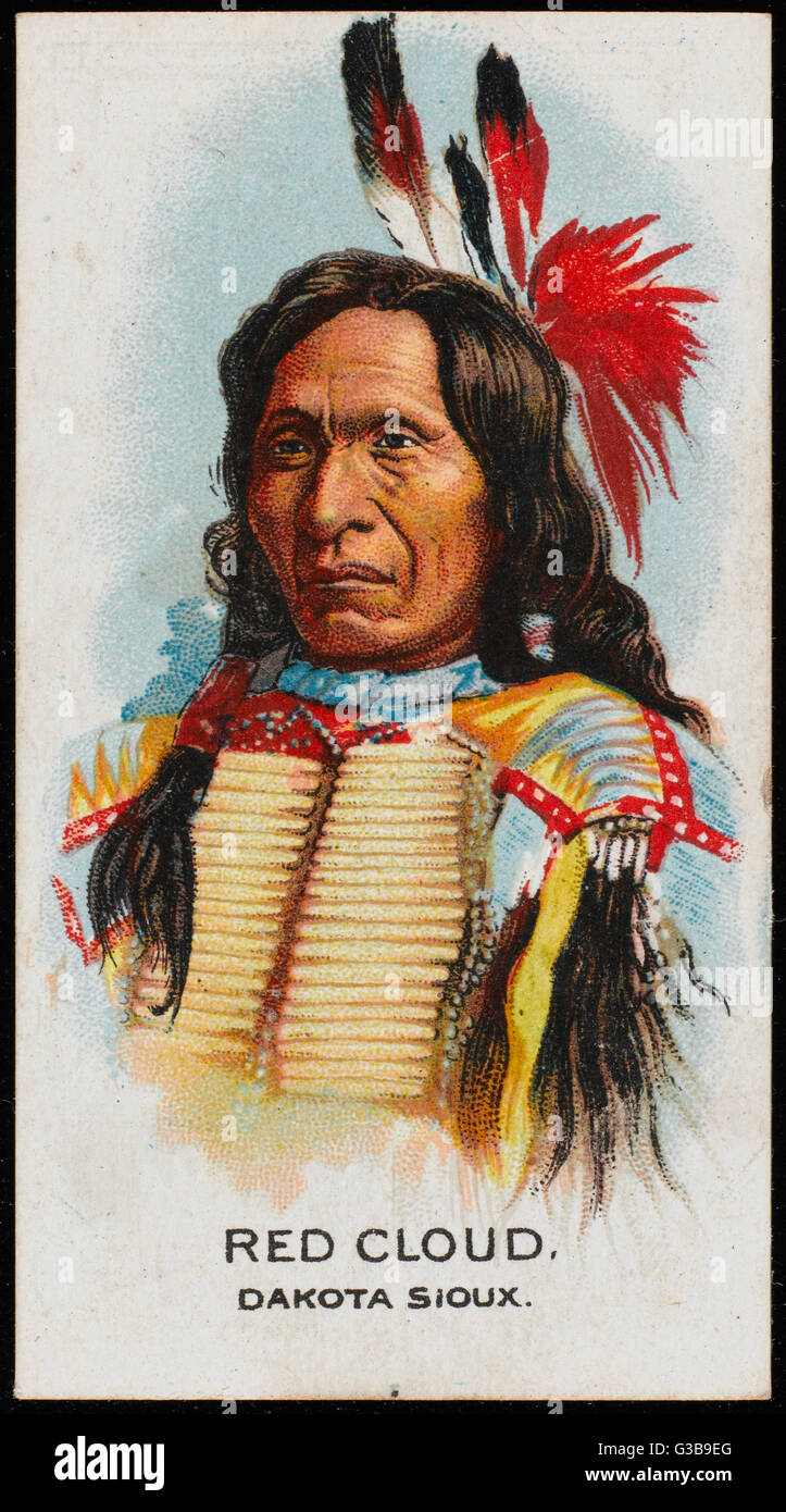 Red Cloud: Chief of the Dakota Sioux tribe Date: early 20th