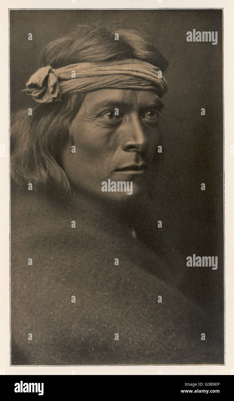 Sat Sa:  Native American governor of the Zuni tribe       Date: 1903 Stock Photo