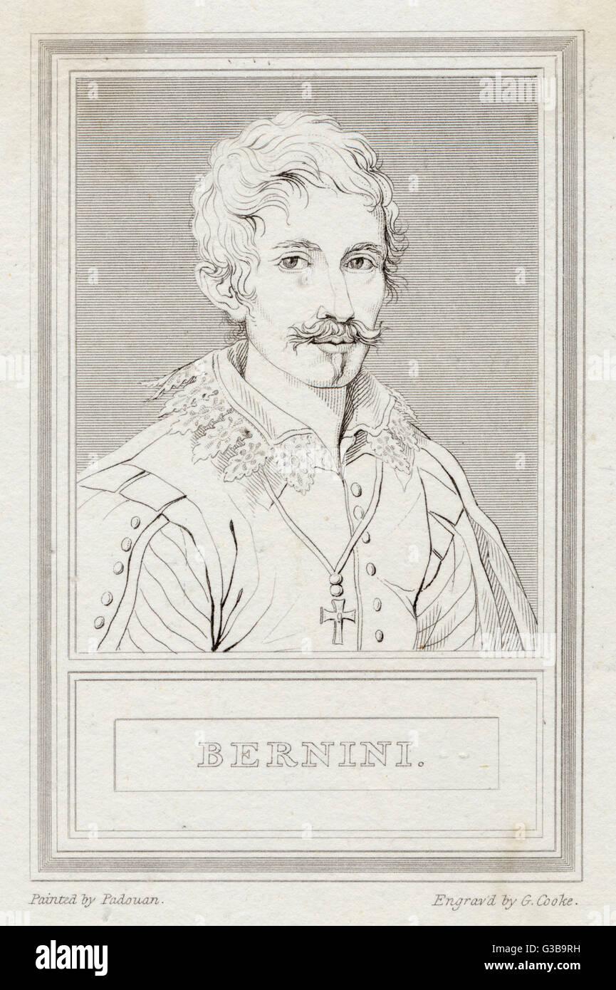 GIOVANNI LORENZO BERNINI  Italian sculptor, architect and  painter.       Date: 1598 - 1680 - Stock Image