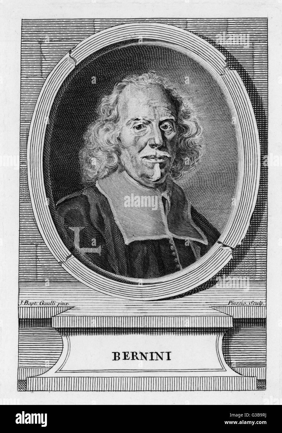GIOVANNI LORENZO BERNINI  Italian architect, sculptor  and painter.       Date: 1598 - 1680 - Stock Image