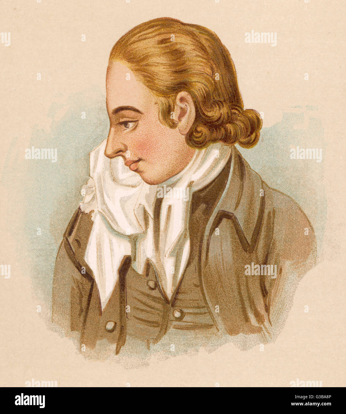 James Hackman, who murdered  Martha Ray, mistress of the  Earl of Sandwich on the 7th  April 1779. He was tried - Stock Image