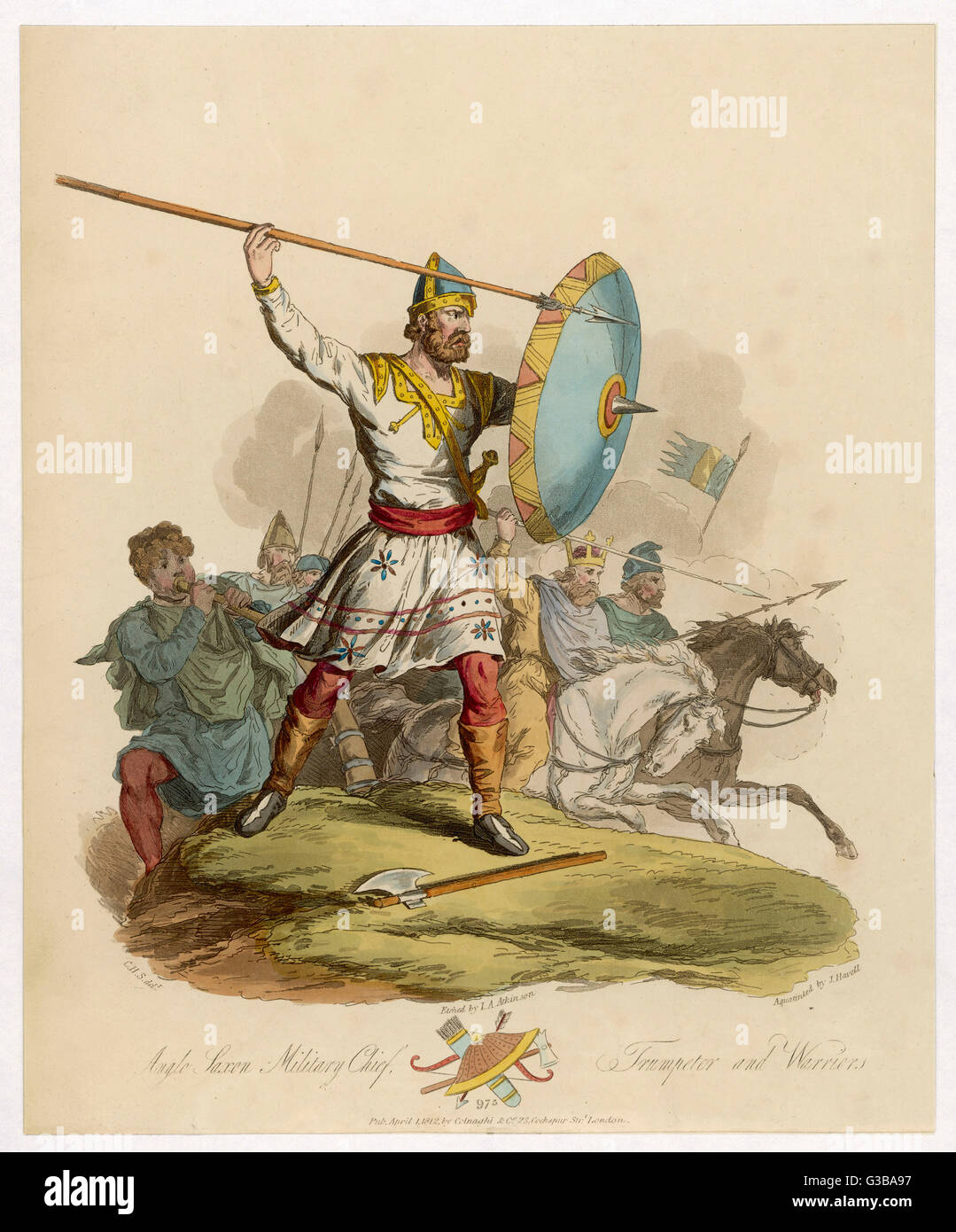 Anglo Saxon Chief         Date: 975 - Stock Image