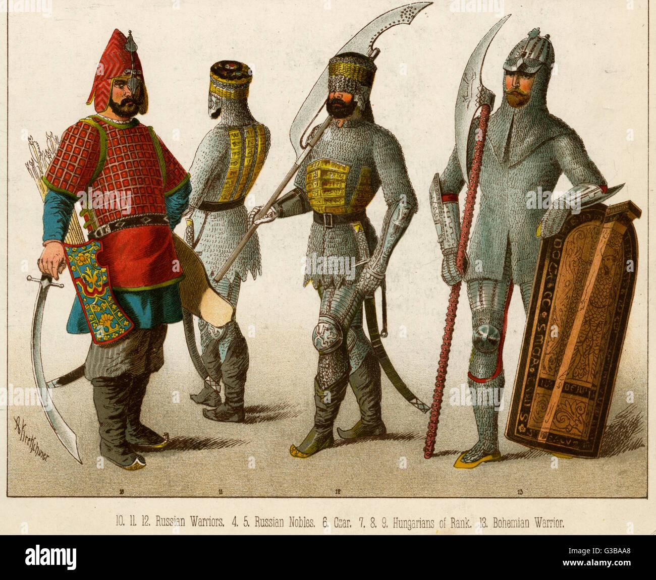 Slavonic Warriors         Date: - Stock Image