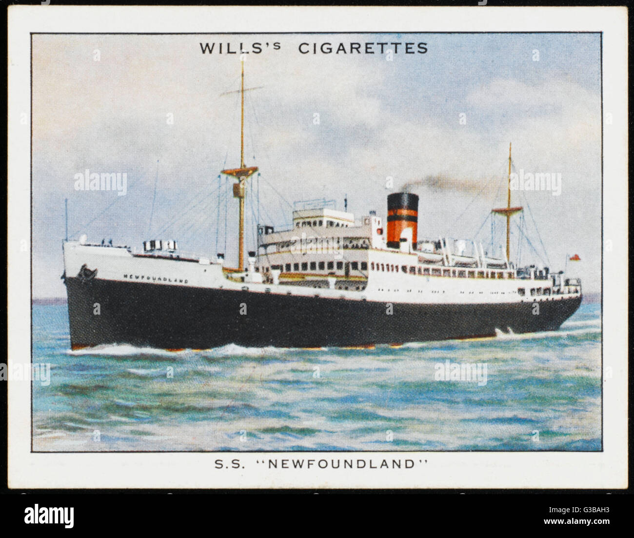 Passenger steamship of the  Furness line, preseumably  sailing between Britain and  Canada.      Date: 1925 - Stock Image