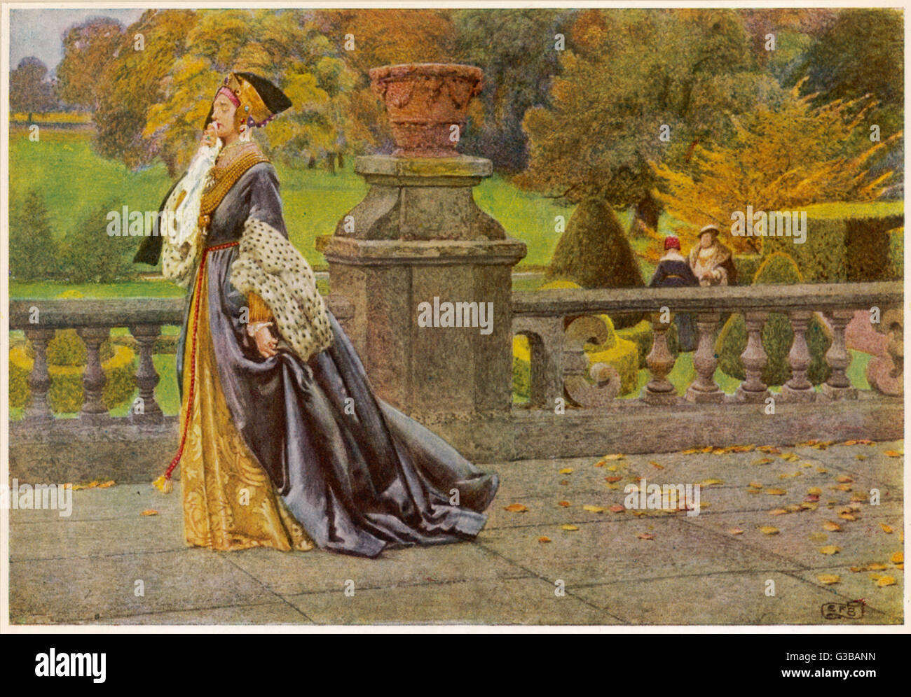 Catherine of Aragon          Date: 1918 - Stock Image