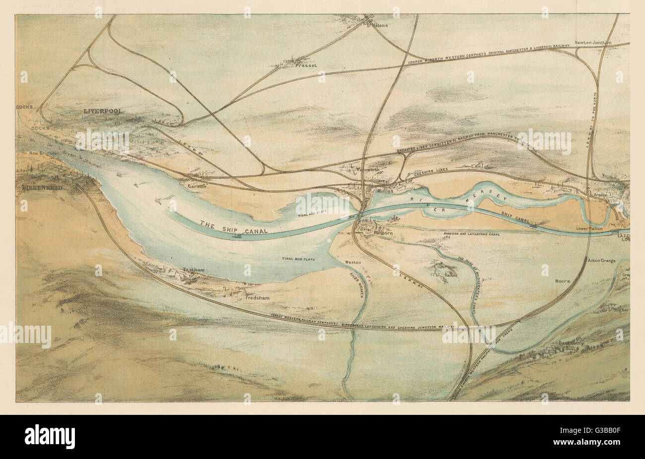 River Mersey Map Stock Photos & River Mersey Map Stock ... on