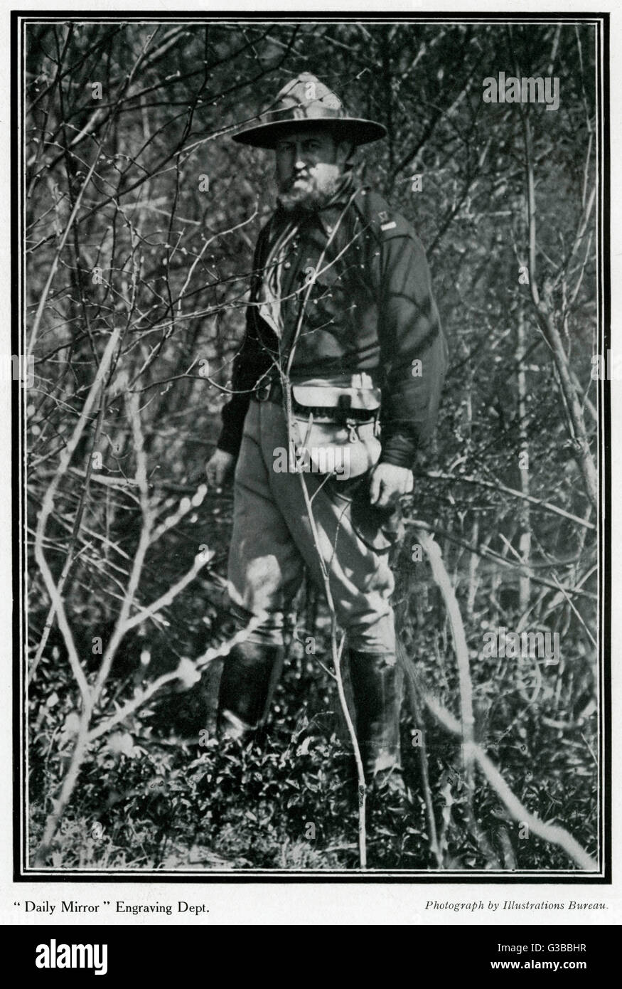 Quartermaster Snowden Ward,  of the Legion of Frontiersmen        Date: 1908 - Stock Image