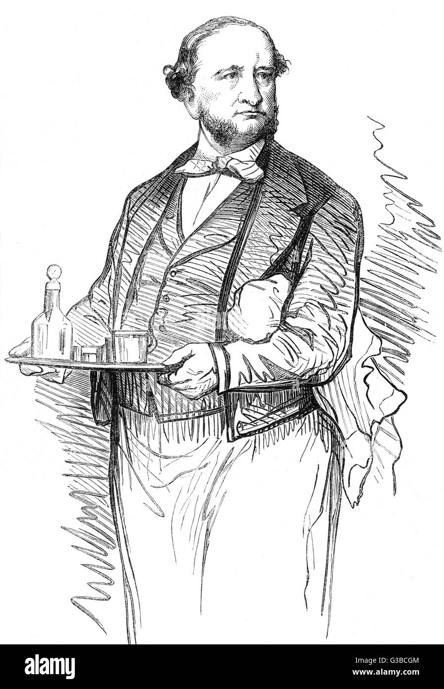 Gabriel Masselin served as a  waiter at the Grand-Vefour,  Paris, for over thirty years.        Date: 1879 Stock Photo