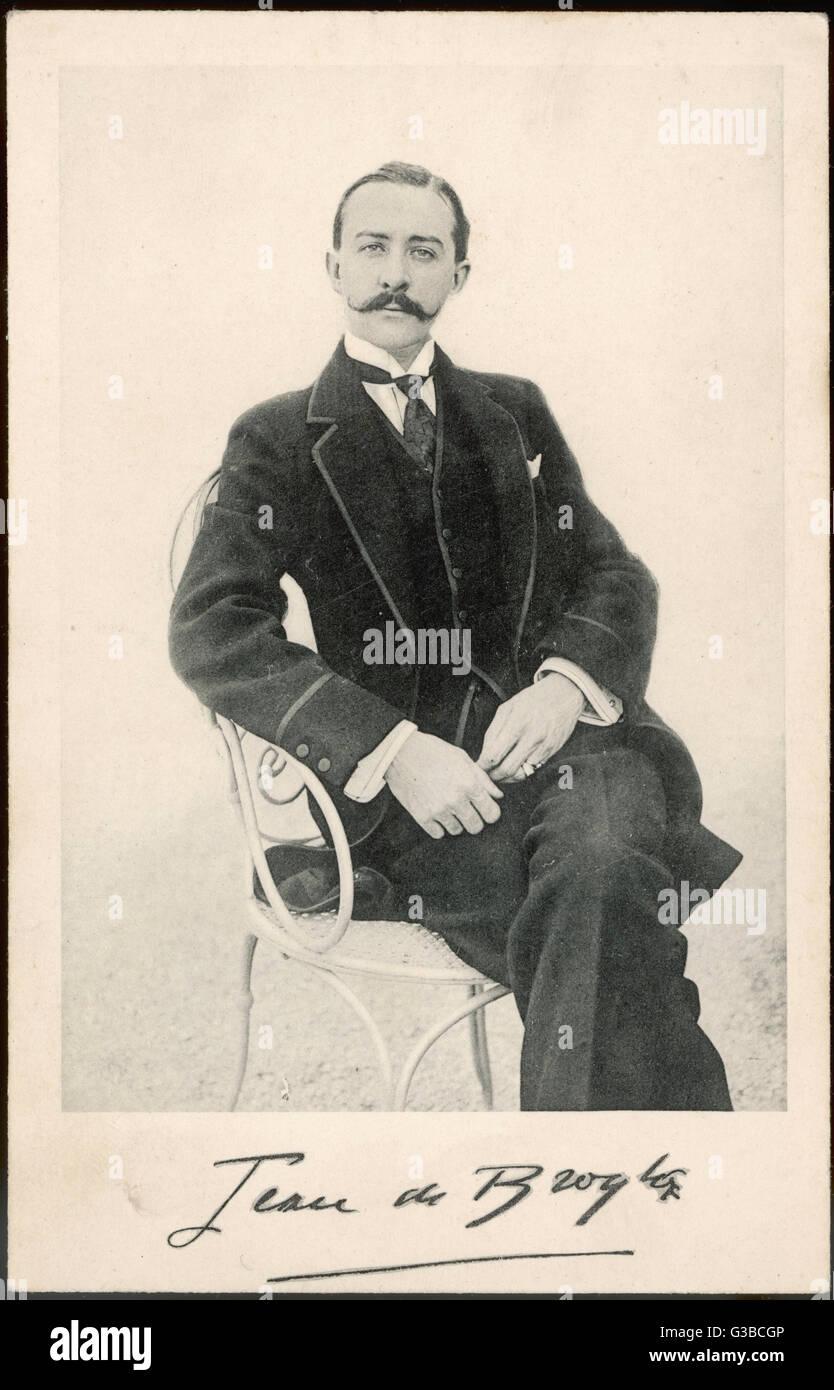 Jean de Broglie, a  French aristocrat.        Date: early 20th century - Stock Image