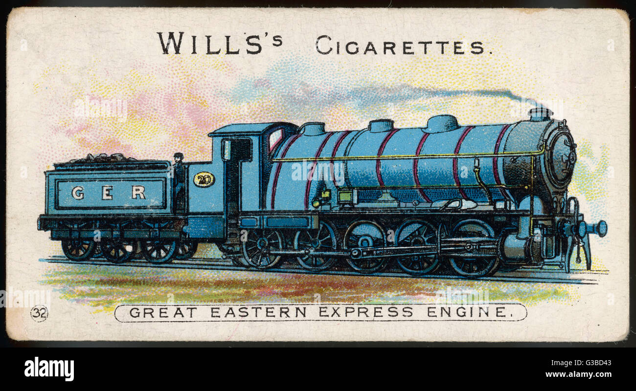 Great Eastern Railway  express loco no 20.        Date: 1903 - Stock Image