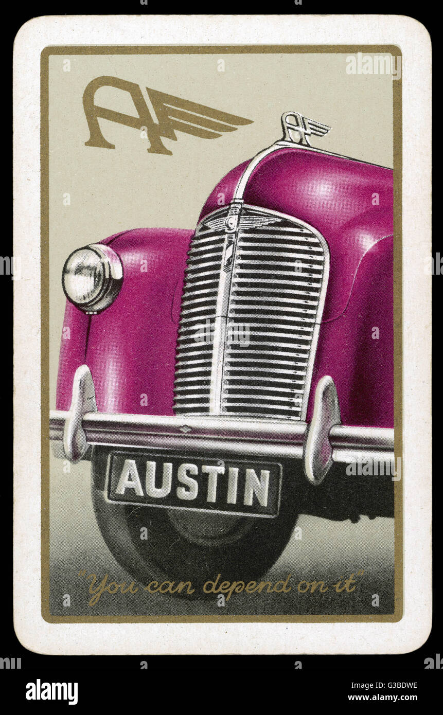 The distinctive front end  of an Austin.        Date: 1930s - Stock Image