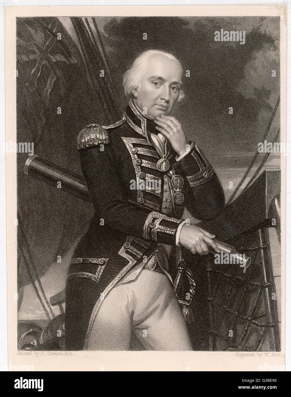 LORD CUTHBERT COLLINGWOOD  English naval commander. Took  command on Nelson's death at  the Battle of Trafalgar Stock Photo