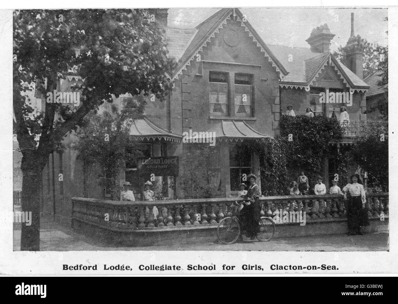 Bedford Lodge Collegiate  School for Girls, Clacton- on-Sea, Essex.       Date: 1906 - Stock Image