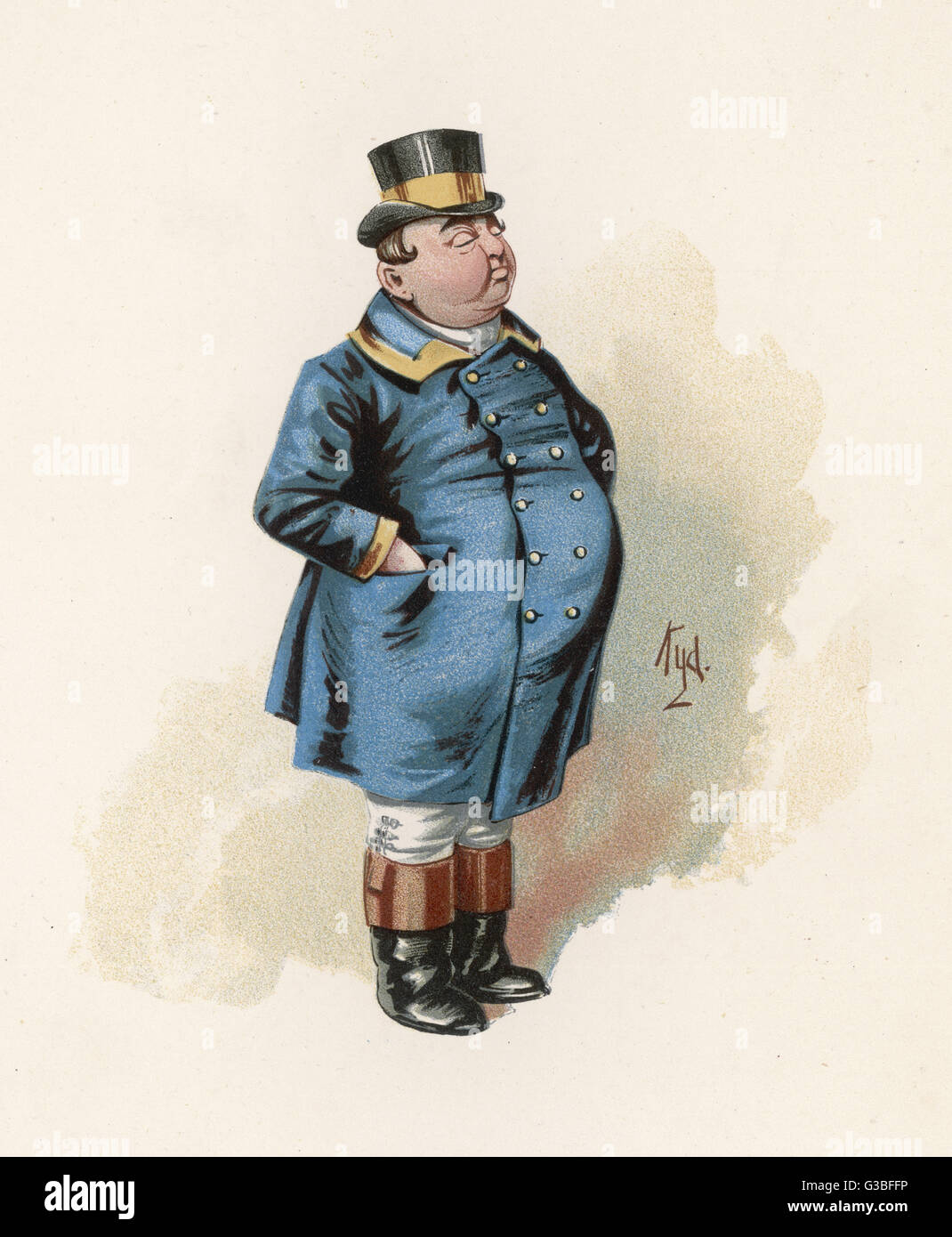 Joe - the Fat Boy.         Date: First published: 1836-37 - Stock Image