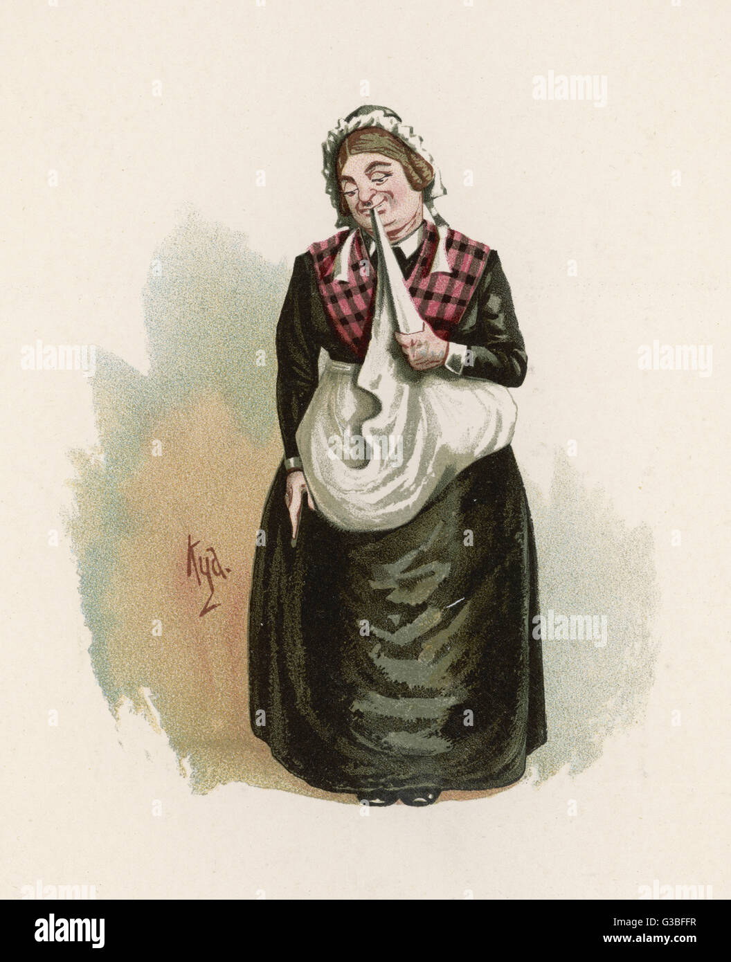 Mrs Bardell.         Date: First published: 1836-37 - Stock Image