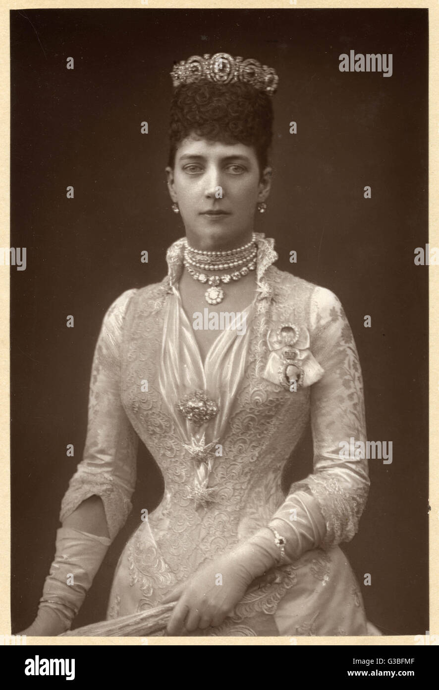 ALEXANDRA QUEEN TO EDWARD VII  Photographed in 1891.        Date: 1844 - 1925 - Stock Image