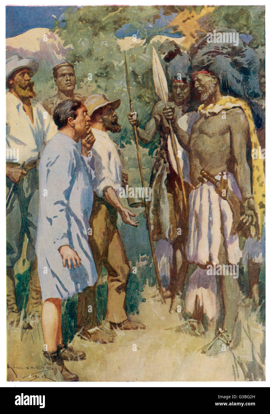 The party have to pretend to  be gods to avoid being  executed by the Kukuana  people.       Date: First published: - Stock Image