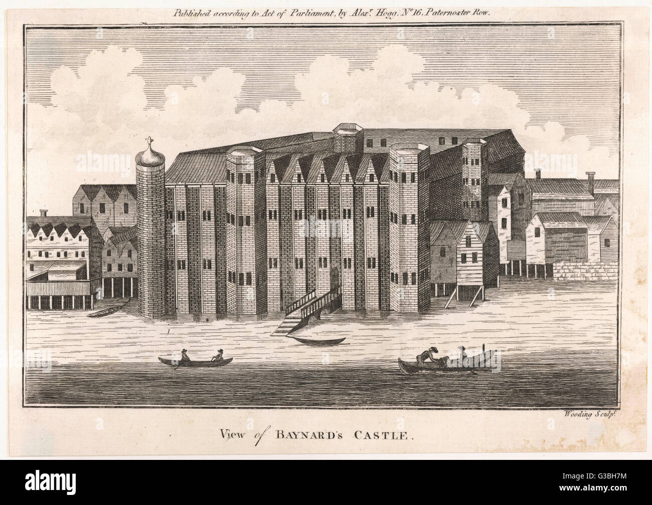 First built by a companion of  William the Conqueror, this  building on the banks of the  Thames at Blackfriars - Stock Image