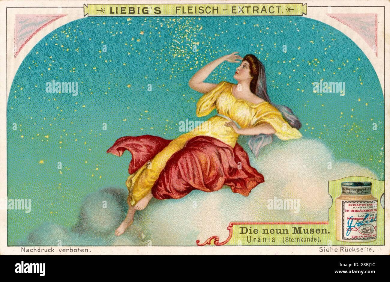 Urania muse of astronomy - Stock Image