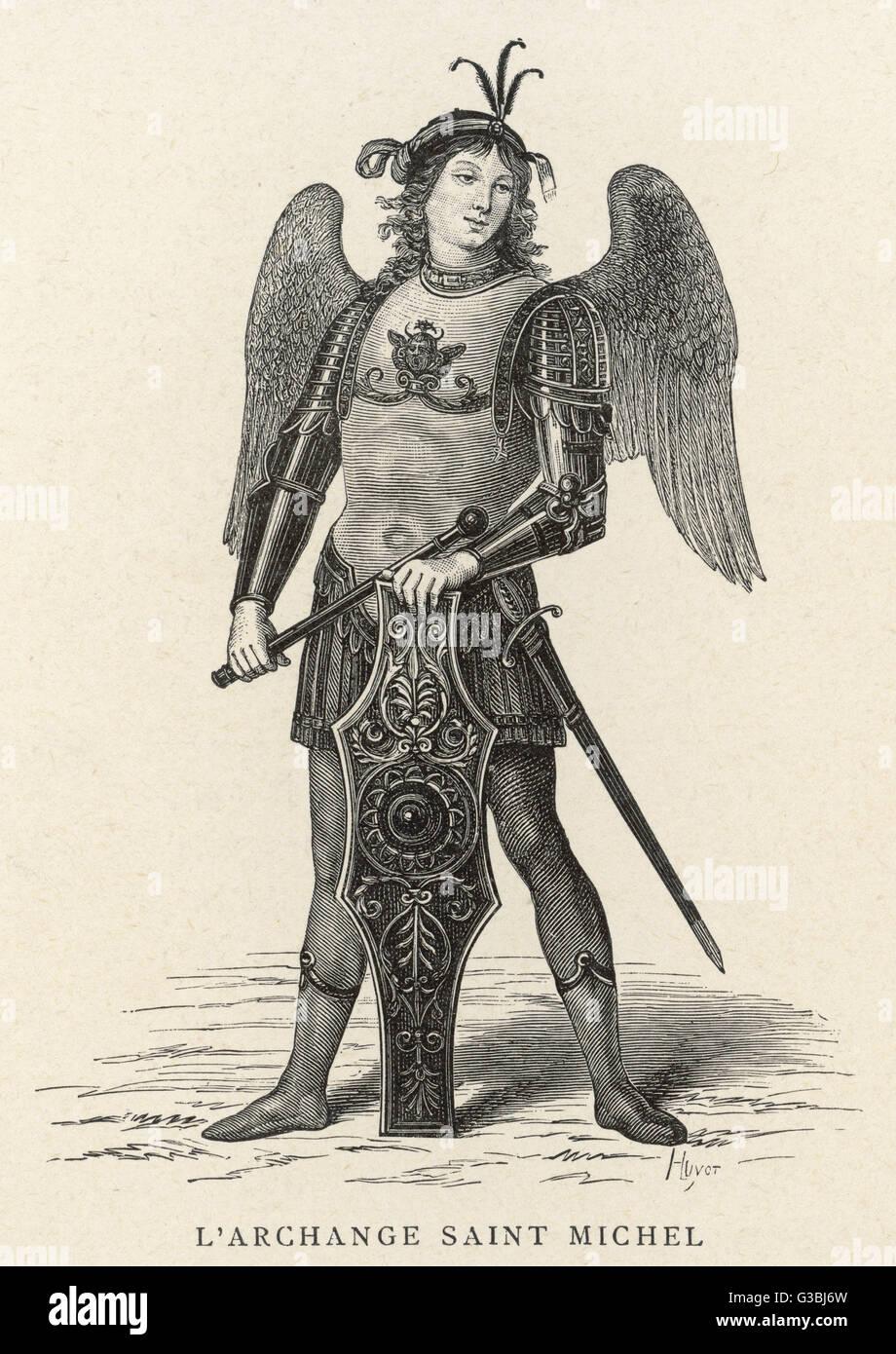 The archangel Michael. - Stock Image