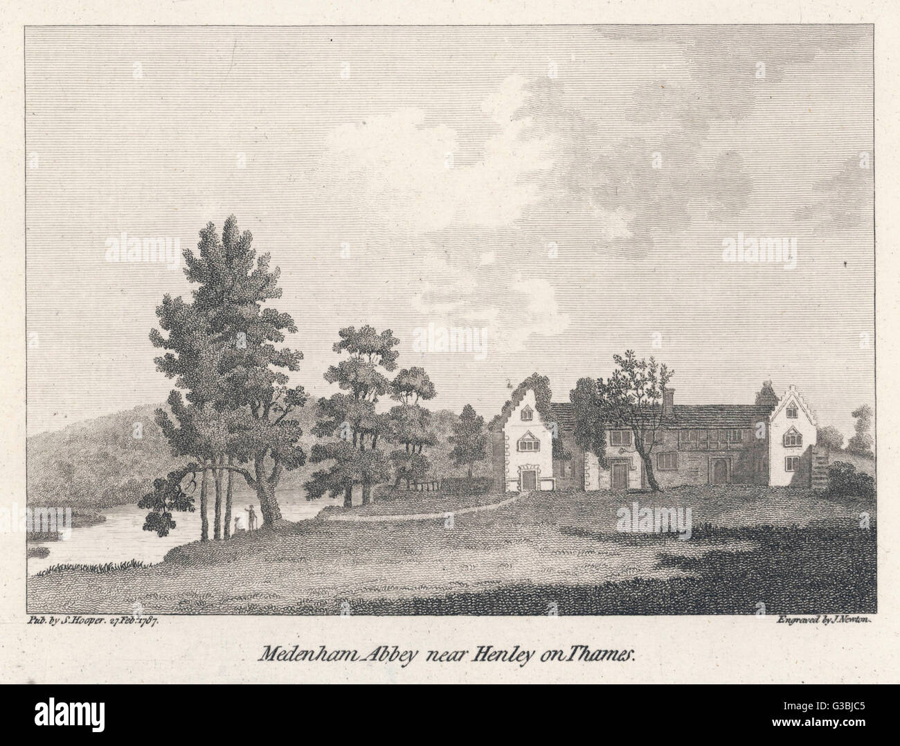 The prudently secluded  Buckinghamshire abbey where  Francis Dashwood's Hellfire  Club held their depraved and Stock Photo