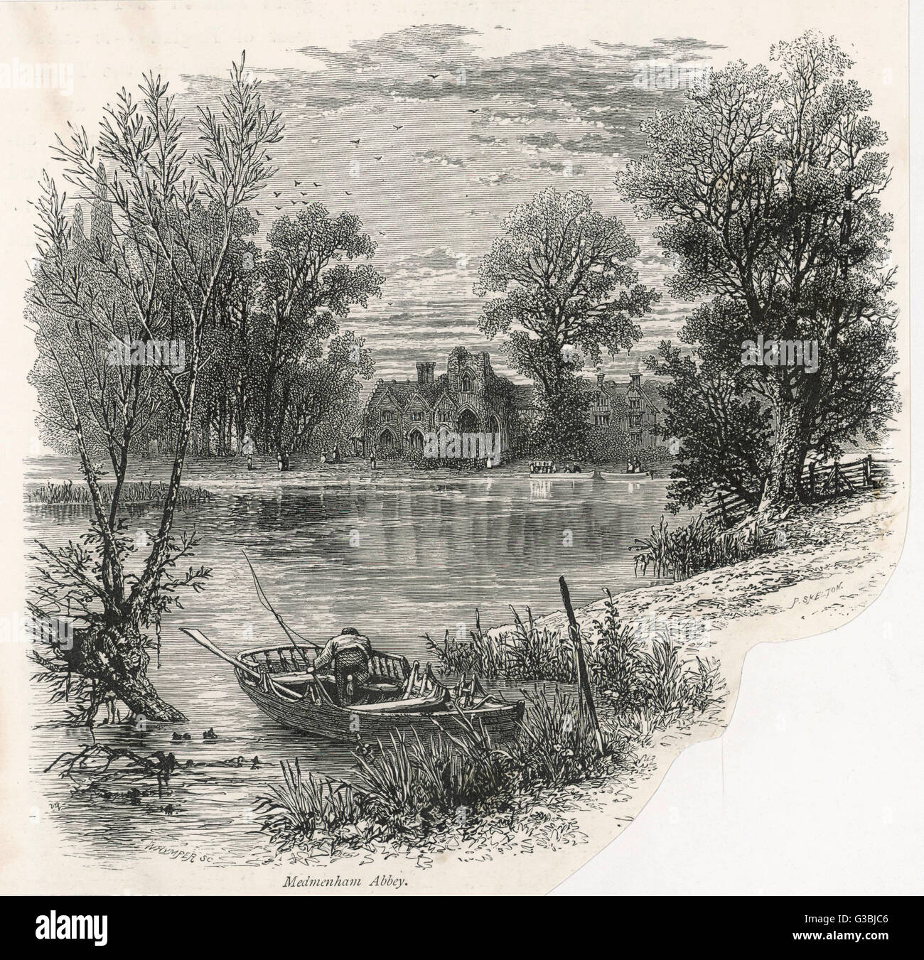 The discreetly secluded  Buckinghamshire abbey where  Francis Dashwood's Hellfire  Club held their depraved and Stock Photo