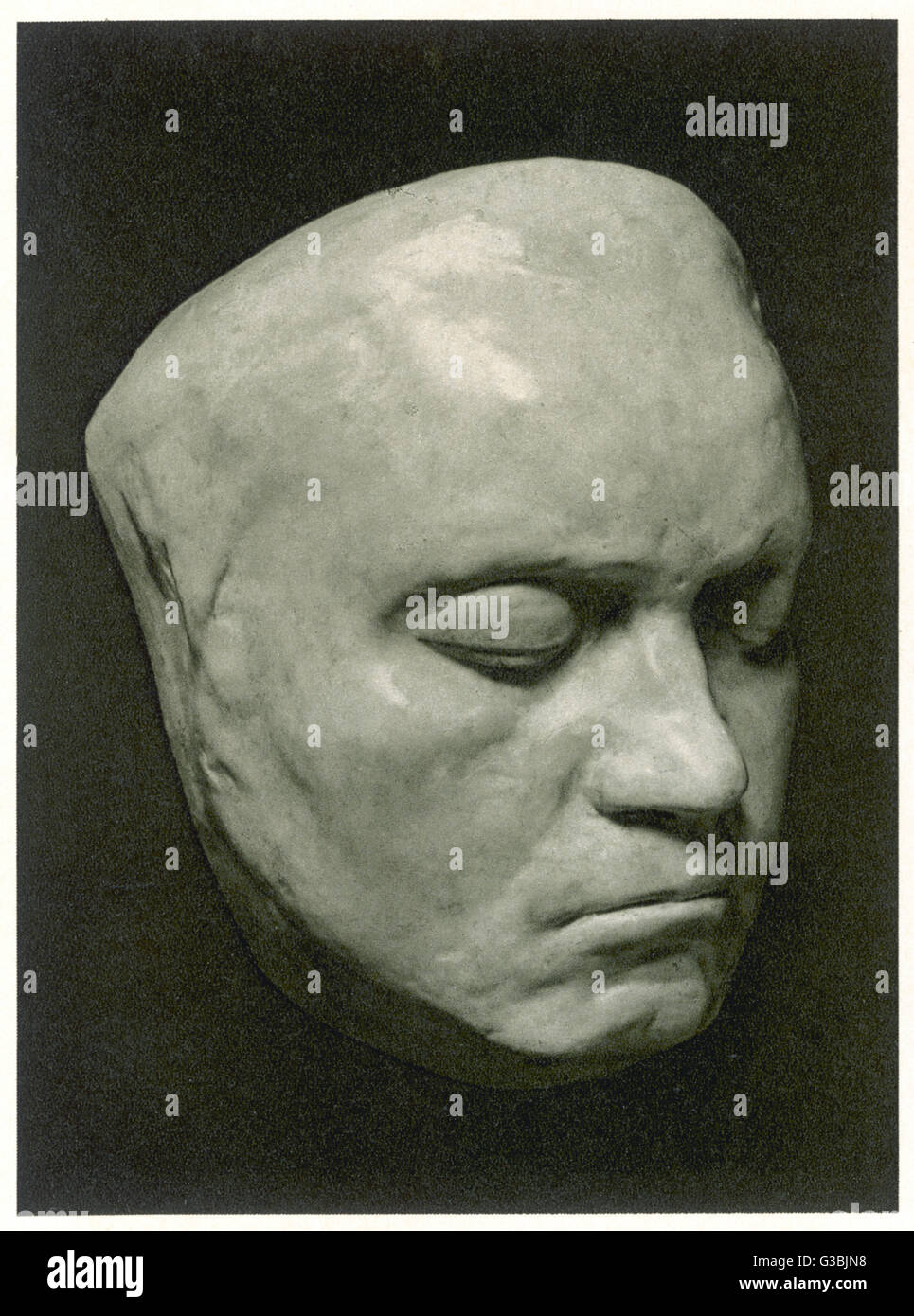 LUDWIG VAN BEETHOVEN  Death mask of the German  Composer.       Date: 1770 - 1827 - Stock Image