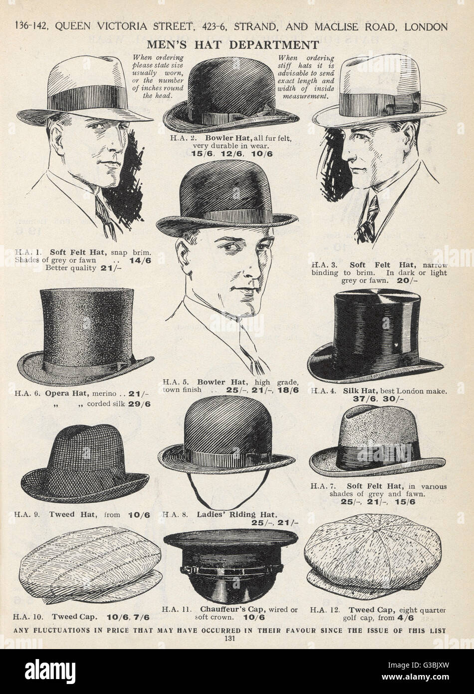 1230fed09eb A selection of men s hats