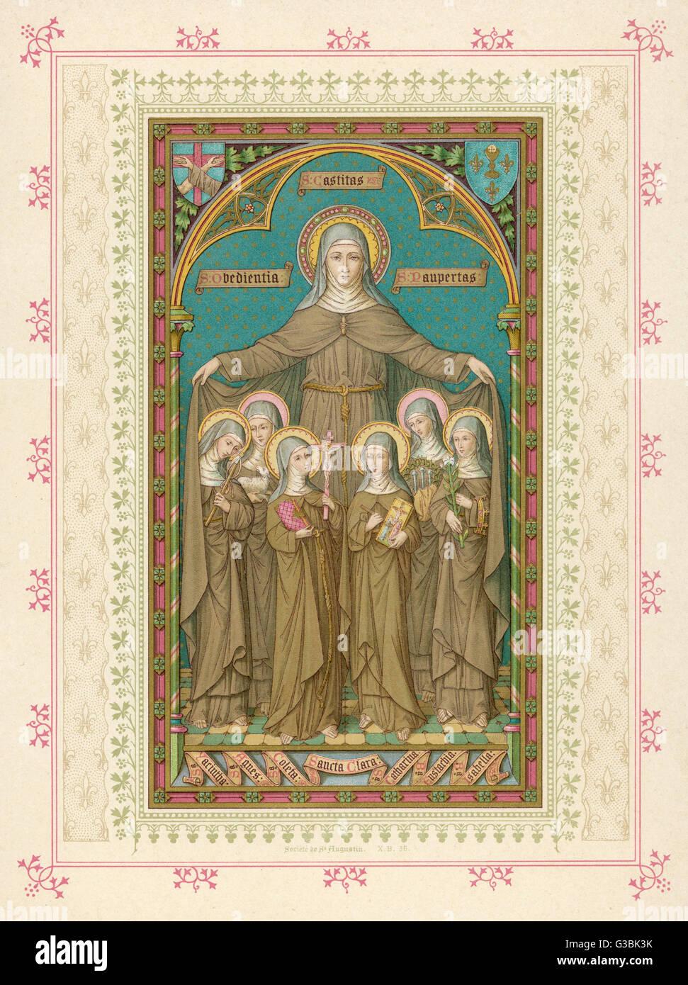 Saint Clare of Assisi - Nun, Saint - Biography