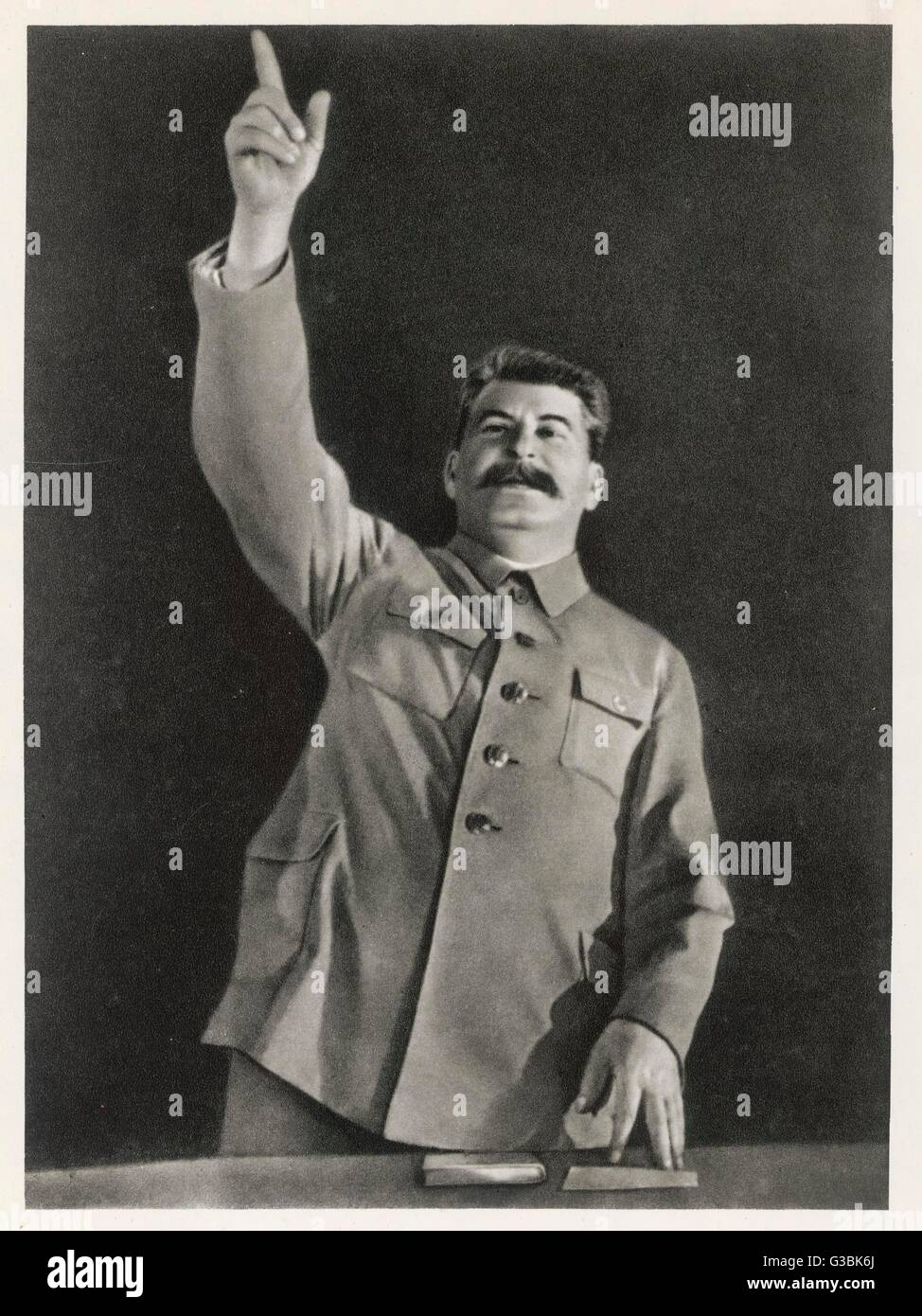 JOSEF STALIN orating         Date: 1879-1953 - Stock Image